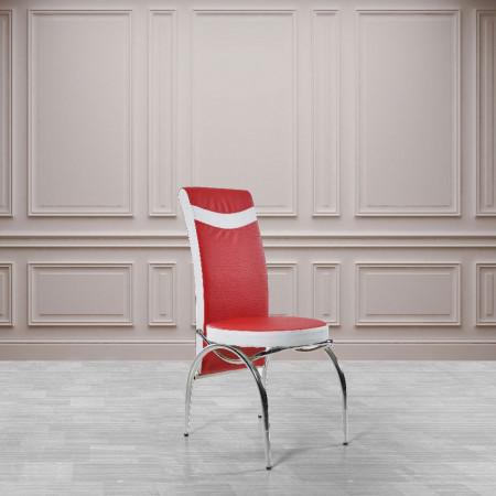 Set masa extensibila cu 6 scaune Olimpia, Rosu+Alb