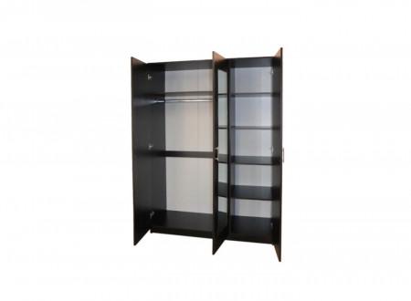 Dulap Soft, 3 Uși, 135x53x200cm, Wenge