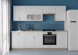 Set mobila bucatarie, Dona , Alb/Sonoma, 250 x 60 x 200 cm