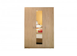 Dulap Soft, 3 Uși, 135x53x200cm, Sonoma