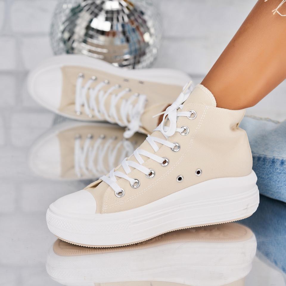 Sneakersi dama Textil Bej Beckett X5961