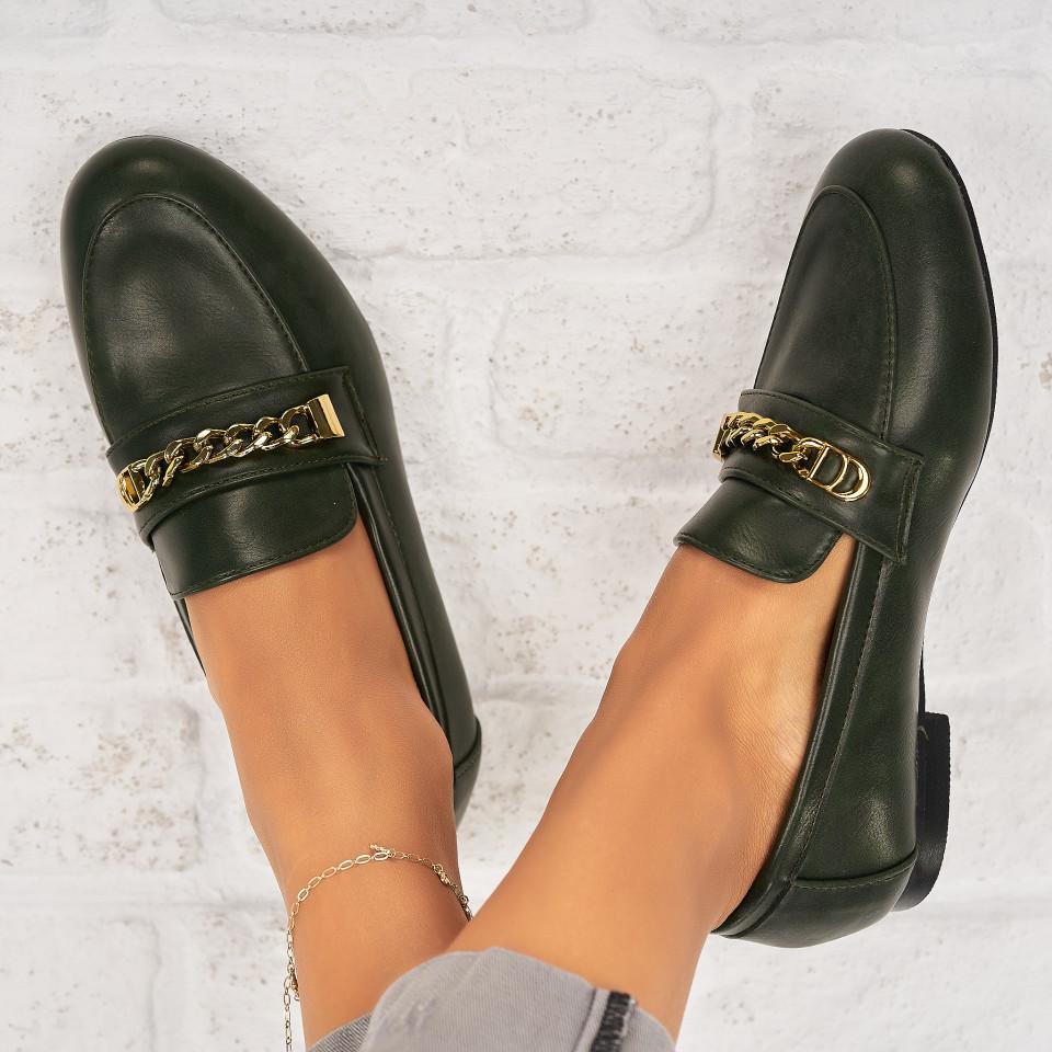Pantofi Casual Piele Ecologica Verzi Avielle X7045