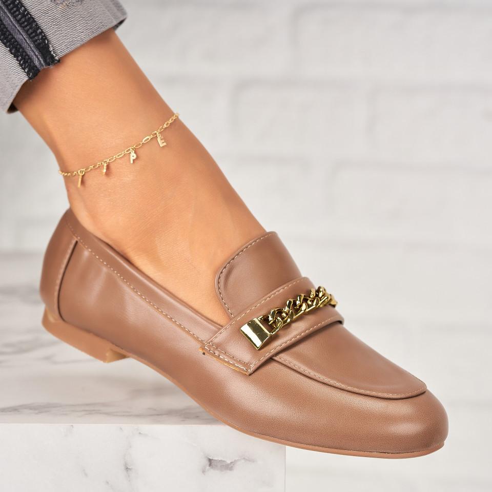 Pantofi Casual Piele Ecologica Kaki Avielle X7046