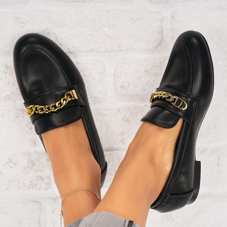 Pantofi Casual Piele Ecologica Negri Avielle X7043
