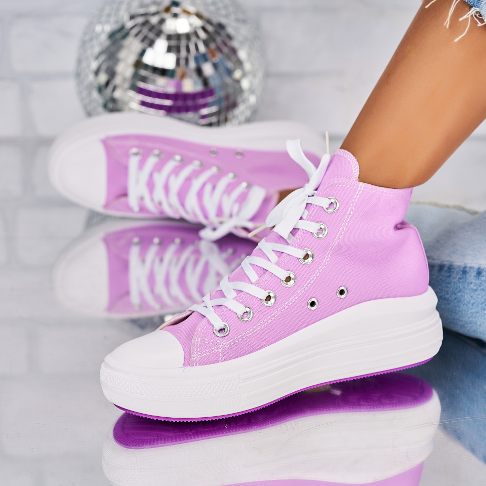 Sneakersi dama Textil Mov Beckett X5960