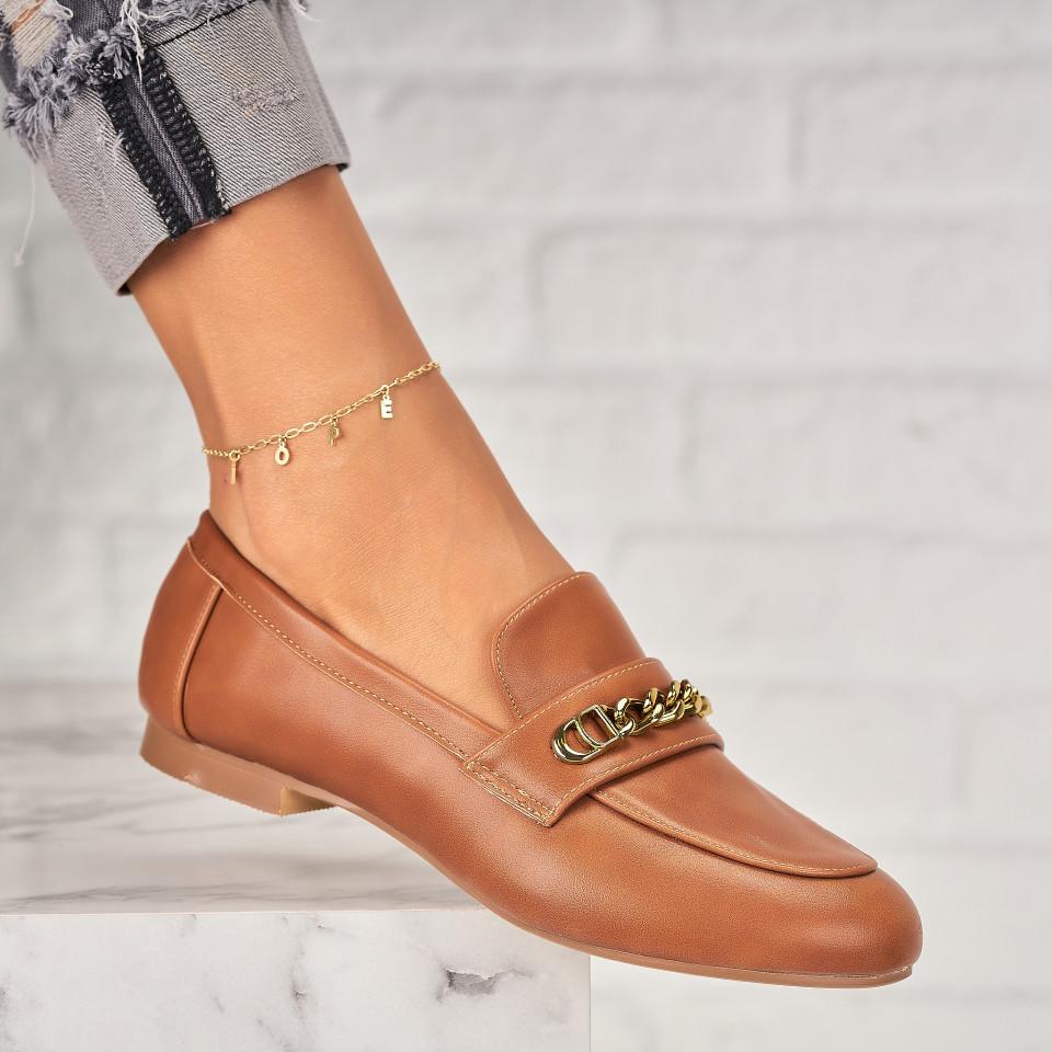 Pantofi Casual Piele Ecologica Camel Avielle X7044