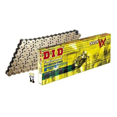 DID - Lant 525VX cu 124 zale - [Gold] X-Ring