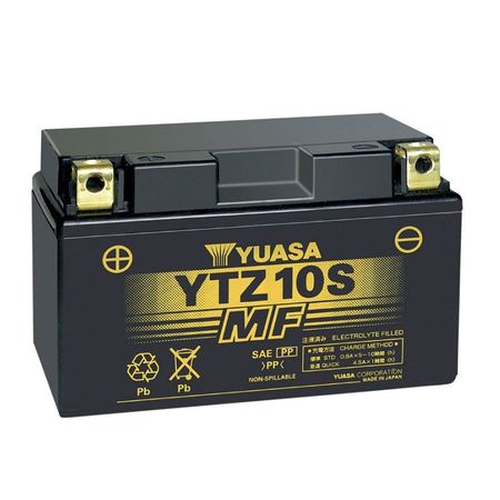 YUASA Japan - Acumulator AGM fara intretinere YTZ10S (sigilata - ready to use)