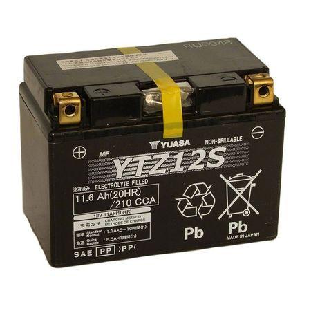 YUASA Japan - Acumulator AGM fara intretinere YTZ12S (sigilata - ready to use)