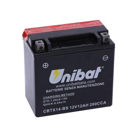 UNIBAT - Acumulator fara intretinere CBTX14-BS (YTX14-BS)
