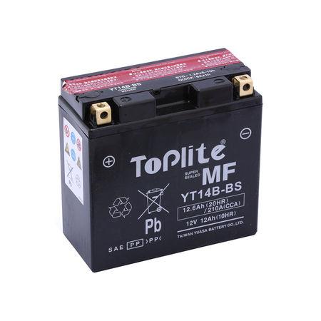 TOPLITE YUASA - Acumulator fara intretinere YT14B-BS / YT14B-4