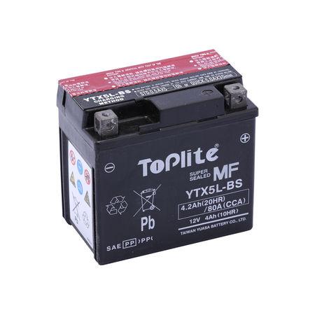 TOPLITE YUASA - Acumulator fara intretinere YTX5L-BS / YT5L-BS
