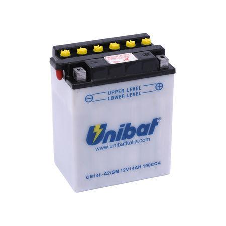 UNIBAT - Acumulator cu intretinere CB14L-A2-SM (YB14L-A2)