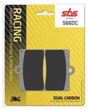SBS - Placute frana RACING - DUAL CARBON 566DC
