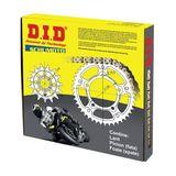 DID - Kit lant Suzuki RM125 '87, pinioane 12/51, lant 520DZ2-118 Gold MX Racing Standard<br> (Format din 100-414-12 / 110-468-51 / 1-485-118)