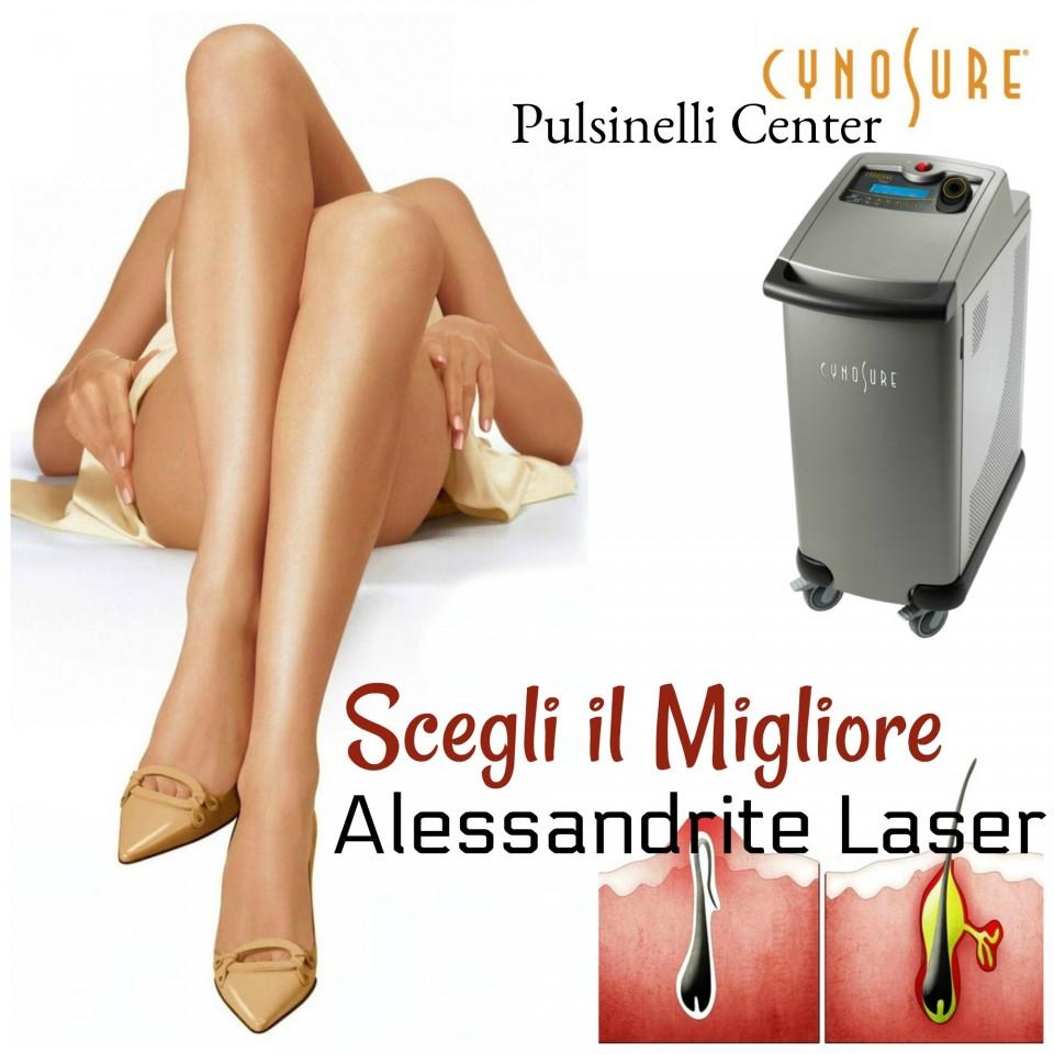 Epilazione laser permanente con alexandrite, l