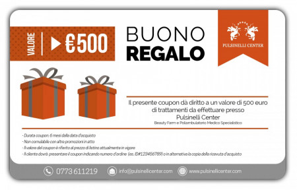 BUONO REGALO valore 500 EURO