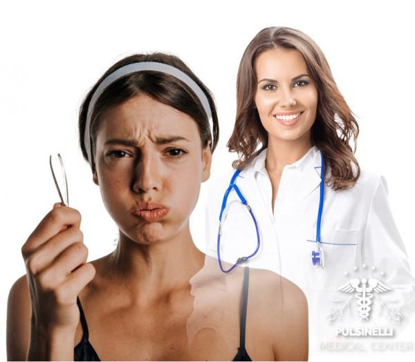 IRSUTISMO EPILAZIONE MEDICA LASER : VISO + BAFFETTO 6 sedute