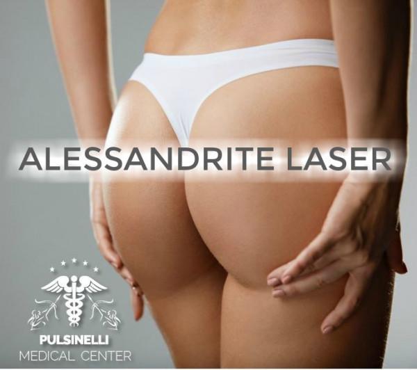 DEPILAZIONE MEDICALE ALESSANDRITE LASER : GLUTEI