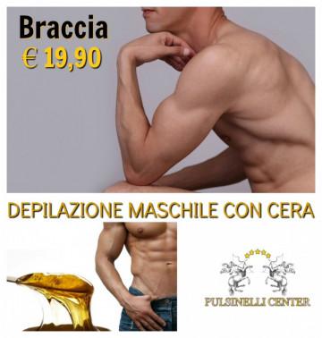 DEPILAZIONE MASCHILE CON CERA: BRACCIA