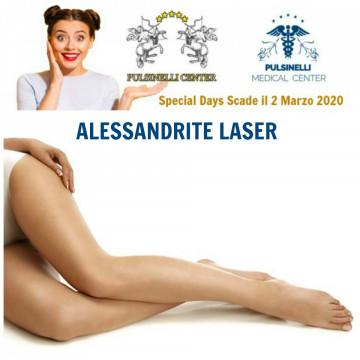 SPECIAL DAYS: EPILAZIONE  LASER ALESSANDRITE ZONA GAMBE