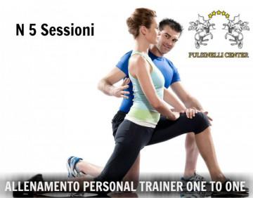 5 SESSIONI ALLENAMENTO CON PERSONAL TRAINER : ONE TO ONE