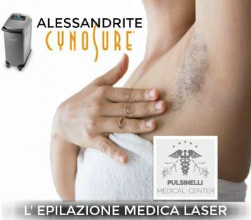 EPILAZIONE MEDICA LASER ALESSANDRITE : ASCELLE (2 sedute)