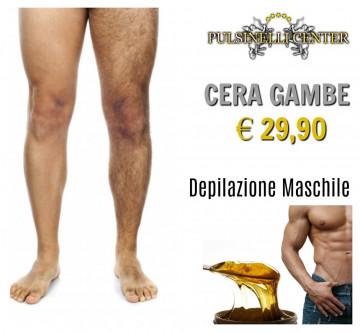 DEPILAZIONE MASCHILE CON CERA: GAMBE