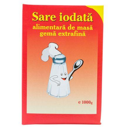 Sare Ioadata alimentara de masa gema extrafina 1kg