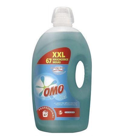 Detergent lichid Active Clean Omo, 5L, 67 spalari