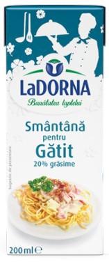 Smantana UHT pentru gatit 20% grasime 200ml LaDorna