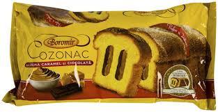 Cozonac Boromir cu crema caramel si ciocolta 450g