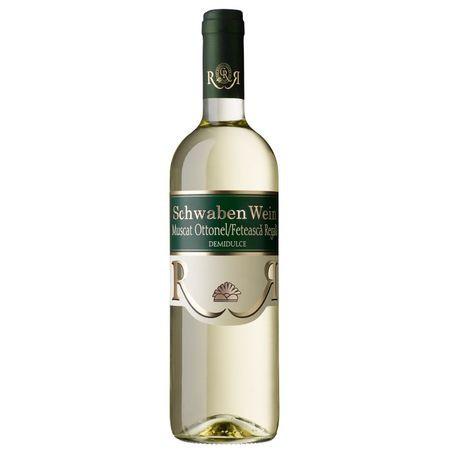 Vin alb Schwaben Recas - MuscatnOttonel Feteasca Regala demidulce 0,75L