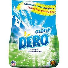 Detergent automat Dero Roua muntelui + Ozon, 2kg, 20 spalari