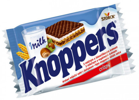 Napolitane cu lapte si alune 25g Knoppers