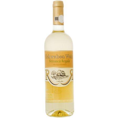 Vin alb Schwaben Recas - Feteasca Regala Demisec 0.75L