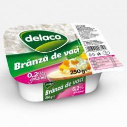 Branza proaspata de vaci 0.2% Delaco 250g