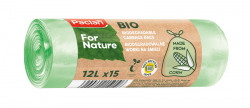 Saci menaj biodegradabili 12L, 15 buc Paclan
