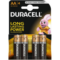 Baterii alcaline AA Duracell 4buc