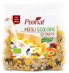 Musli BIO cu fructe 300g Pronat