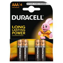 Baterii alcaline AAA Duracell 4buc