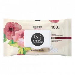 Servetele umede cu capac, 100buc, Rose, Papilion