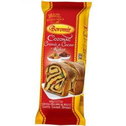 Cozonac Boromir cu crema cacao si rahat 400g