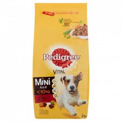 Hrana pentru caini, mini adult, vita 2kg Pedigree