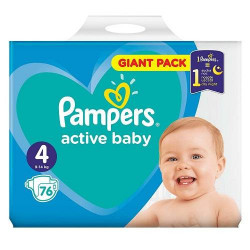 Scutece Pampers GIANT PACK 4 (9-14kg) 76buc