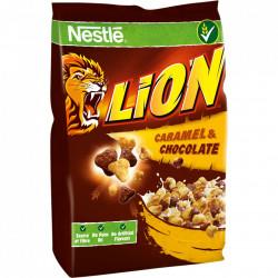Cereale cu ciocolata si caramel 500g Lion