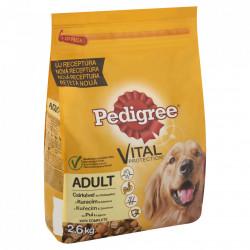 Hrana pentru caini, adult, pui cu legume 2.6kg Pedigree