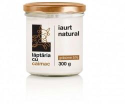 Iaurt natural 5%, 300g Laptaria cu caimac