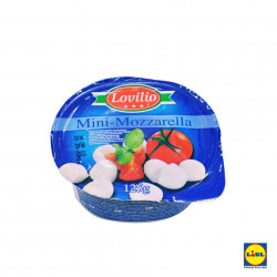 Mini Mozzarella 125g Lovilio