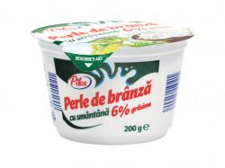 Perle de brânză cu smântână 6% 200g Pilos